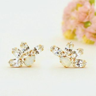 Wedding flower earrings 1