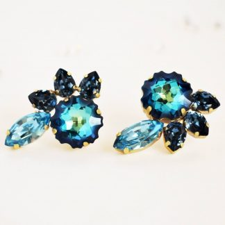 Statement blue earrings 1