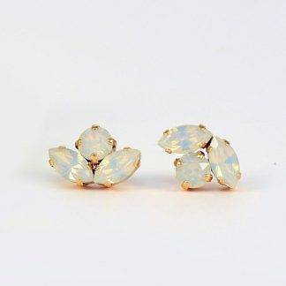 Dainty white opal earrings 3