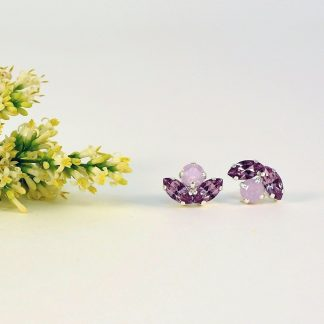 Purple stud earrings 1