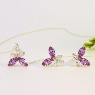 Amethyst necklace and earrings 1