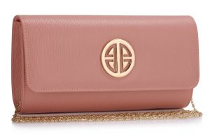 Pink and gold clutch purse