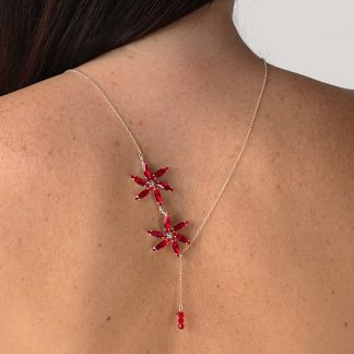 Red back necklace 1