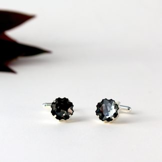 Black crystal cufflinks 3